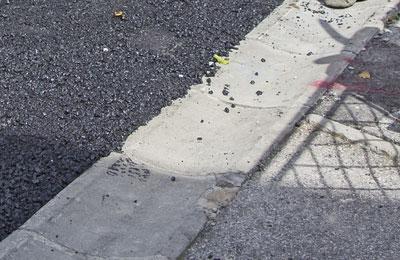 stationnement en asphalte