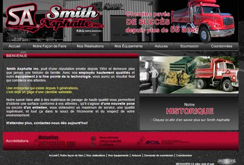 Smith Asphalte Inc – Pavage Drummondville