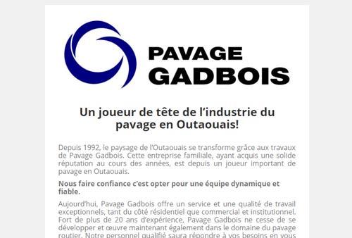 Pavage Gadbois – Pavage à Gatineau