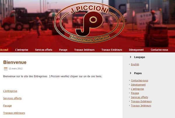Entreprises J Piccioni Inc